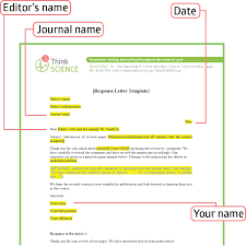 Letter A Template Writing Effective Response Letters To Reviewers Tips And A Template