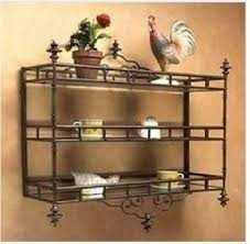 wrought iron bathroom shelf. Continental Iron Kitchen Shelf Bathroom Storage Rack Wrought Wall Shelves O