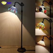 Brass Fumat Stained Glass Floor Lamp Vintage Style Dragonfly Baroque Fishing Stand Lights Living Room Hotel Bar Decor Light Fixtures Aliexpress Fumat Stained Glass Floor Lamp Vintage Style Dragonfly Baroque