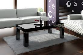 contemporary black glass coffee table sets