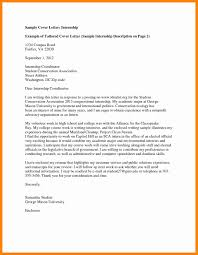 Examples Of Cover Letters For Internships Sample Letter Law