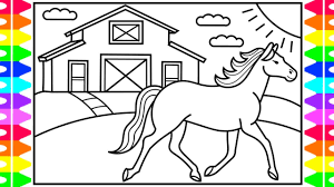 How To Draw A Horse For Kids Horse Drawing For Kids Horse
