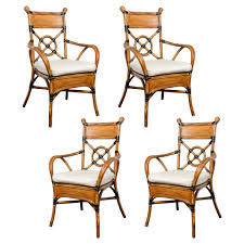 bamboo rattan chairs. French Bamboo/Rattan Set Of Four Chairs C.1950 Bamboo Rattan A