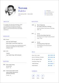 Web Developer Cv Free Cv Resume Template In Psd Ai For Web Developers