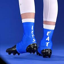 Cleat Cover Size Chart Amazon Com Lets Eat Blue Spats Cleat Covers Sports