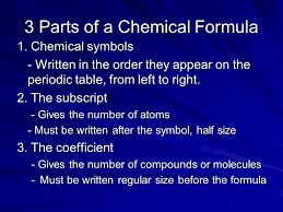 Big Idea: Given a chemical formula be able to count the number of ...