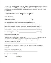 Job Proposal Sample Rome Fontanacountryinn Com