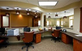 medical office design ideas office. Uncategorized Small Medical Office Interior Design With Leather Chairs And Black Pendant Lamps Curved Desk Skylight 17 Incredible Ideas