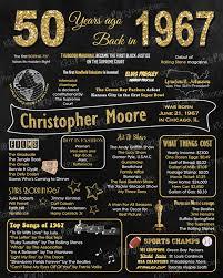 50th Birthday Gift for Women, 50th Birthday Chalkboard, 50th ...