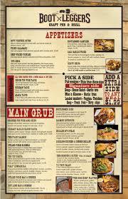 Menu | Bootleggers Craft Pub & Eatery