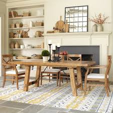 Large Farmhouse Kitchen Table Awesome Rectangle Brown Wooden Farmhouse Kitchen Table Wooden