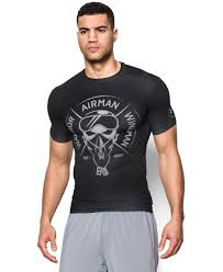 Under Armour Arm Sleeve Size Chart Freedom Air Force Mens Short Sleeve Compression Shirt