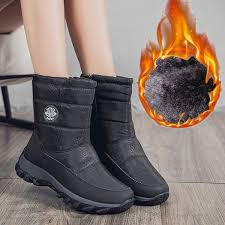 Boots Plush Warm Ankle Boots For Women Winter Waterproof Women Female Winter Shoes Booties Size 35 43 Sporto Boots Boys Boots From Vikiipedia 23 39
