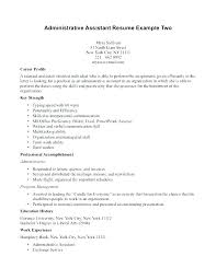Objective For Executive Assistant Resume Sample Administrative ...