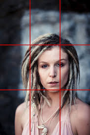 rule of thirds photography portraits. Portrait Of Woman With Dreadlocks And Rule Thirds Grid Photography Portraits N