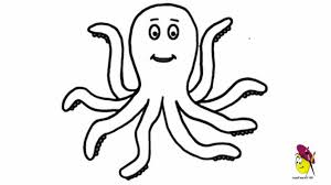 Small Picture Simple Animal Drawing Happy Octopus Sea Animals Easy Drawing How