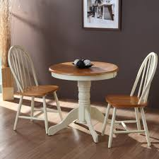 shabby chic dining chairs with saloom furniture and pedestal dining table plus cozy pergo flooring
