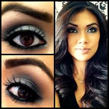 images for eye makeup for dark brown eyes and fair skin