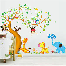 animals tree monkey removable wall