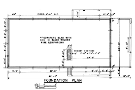 ranch house foundation plan cross section these plans home small open floor