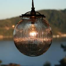 glass globe pendant light helpformycredit com ribbed fixture shades