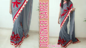 Designer Patches For Sarees How To Make Amazing Patch Work Designer Saree At Home Make Designer Saree At Home