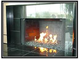 gas fireplace rocks glass ventless