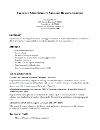 Sample Resume For Office Assistant Position Resume Administrative Assistant Resume Example