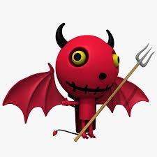 cute devil royalty free 3d model preview no 1