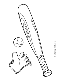 Baseball Sport Coloring Page For Kids