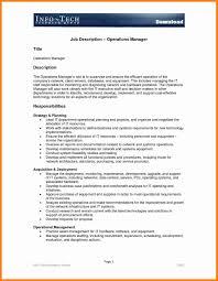 Project Manager Description Construction Job Description For Resume