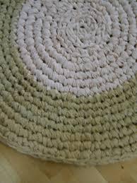 upcycled shabby chic handmade rag rug
