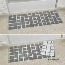 keagan bath rug runner gray 60 x 22