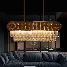 modern brass chandeliers 35 43in 47 24in long metal cage multi light hanging light fixture