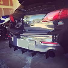 Mazdaspeed 3 Mazda rear diffuser for bumper custom made | eBay