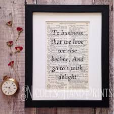 Print Home Work Inspirational Work Quote Print Home Office Decor Shakespeare