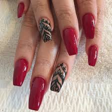 29+ Red and Black Nail Art Designs, Ideas   Design Trends ...