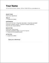 easy simple resume template easy resume template 81 interesting easy resume  examples of .