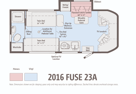 the winnebago fuse ignites winnebagolife fuse 23 a floorplan