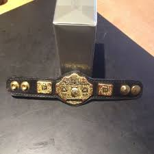 details about wwe wwf authentic replica micro wwe world heavyweight leather belt 6 inches