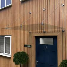 glass door canopy with tie rods type p