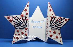 Gate Fold Card In The Shape Of A Star Stamping With