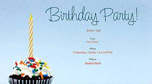 Birthday Party Evites Free Birthday Invitations Online