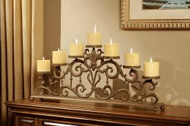 image of modern fireplace candle holder