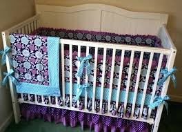 purple and gray baby bedding chevron crib sets