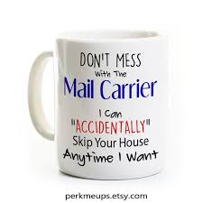 Mailman Gift Mail Carrier Coffee Mug Tea Cup Funny Post