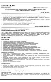 Sample Resume For Business Analyst Gorgeous Sample Resume For Business Analyst Formatted Templates Example