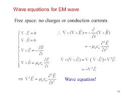 wave equations for em wave