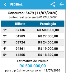 Resultado Loteria Federal 11/07... - Lotérica Nova Real