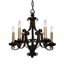 sold antique wrought iron chandelier c 1920s